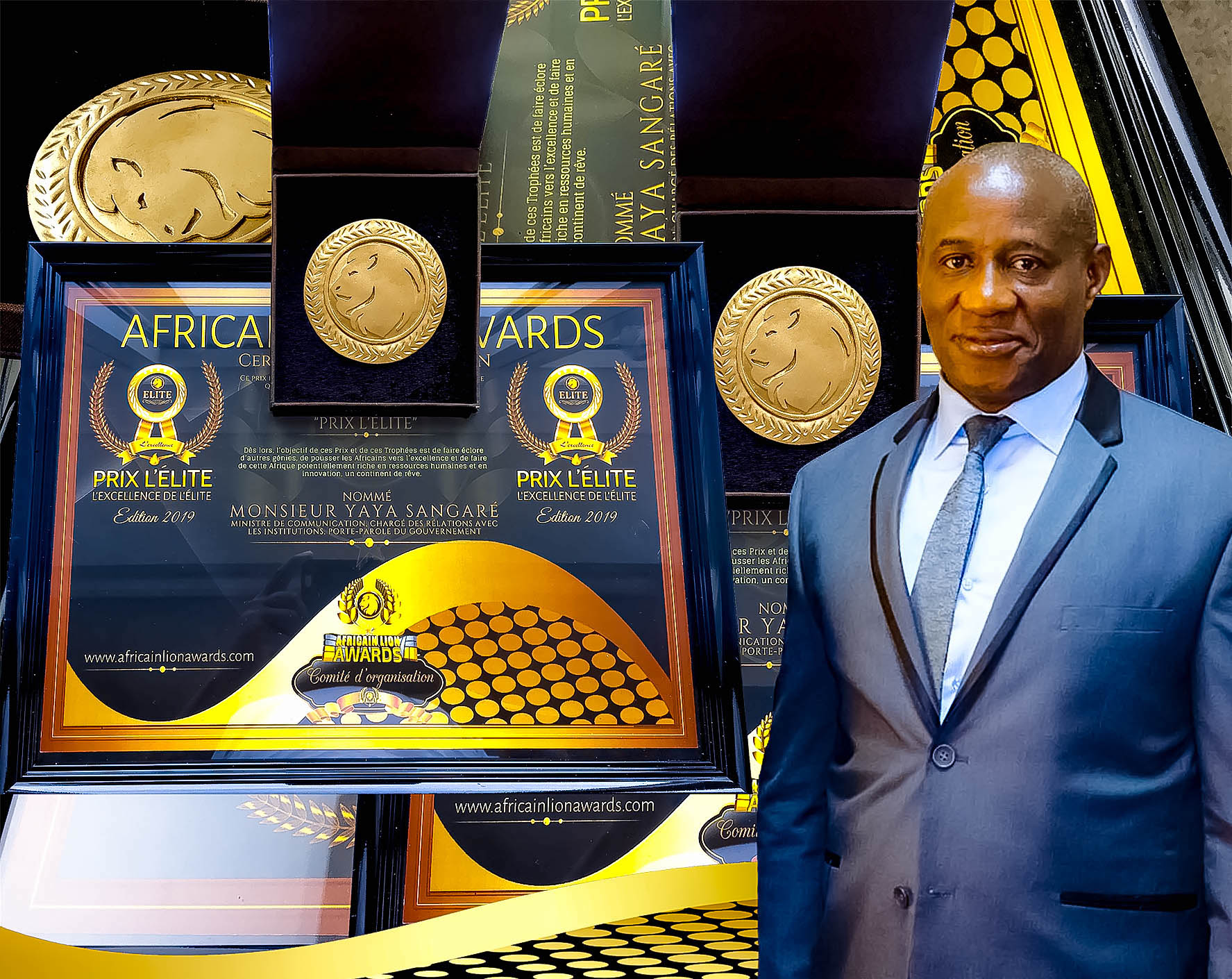 """Le Ministre Yaya Sangare a reçu en audience, ce lundi 2 septembre 2019, le comité de """"Africain Lion Awards ALA» représenté par M. Drissa Kanambaye"""